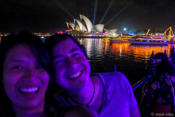 Sydney NYE Edna and Joe by Expat Edna