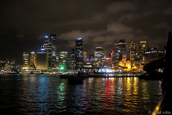 Sydney NYE Harbour by night by Expat Edna
