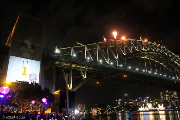 Sydney NYE countdown - 1 second to go by Expat Edna