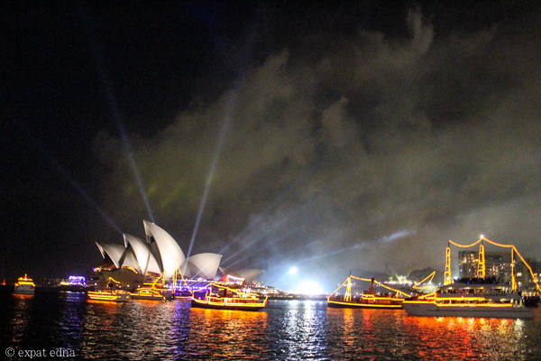 Sydney harbour NYE by Expat Edna