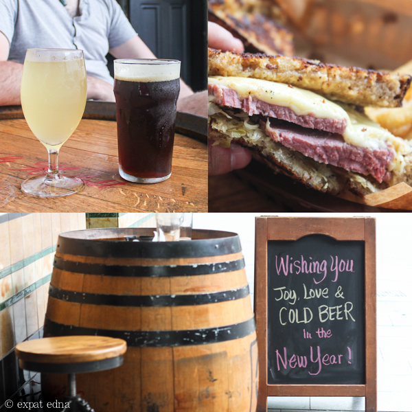 Beer and reuben, Quarrymans, Sydney by Expat Edna