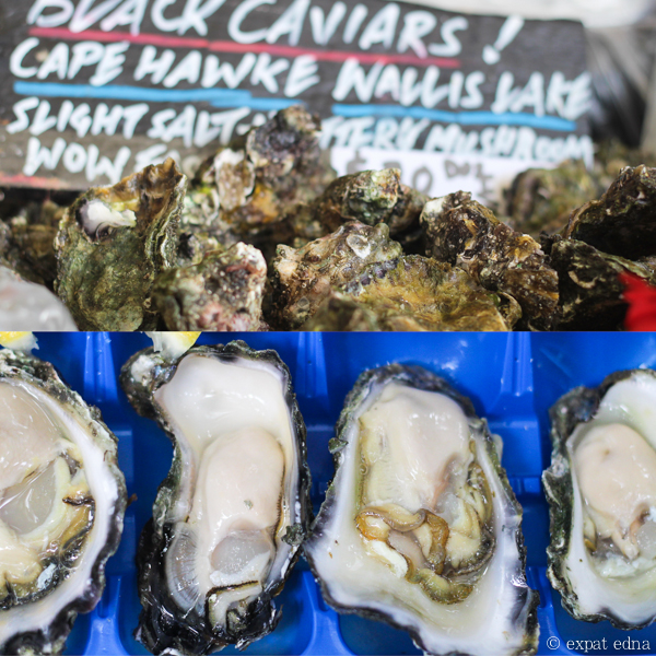 Black caviar oysters, Sydney by Expat Edna