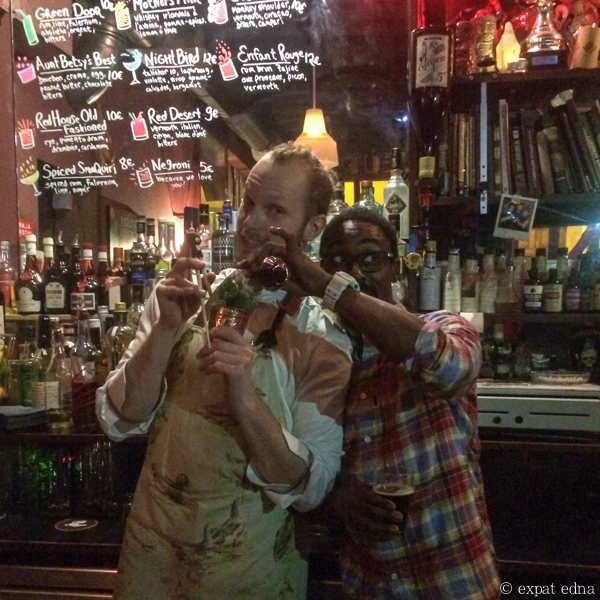 Bartenders Piotr of Little Red Door and Dmitry of Candelaria, Paris by Expat Edna