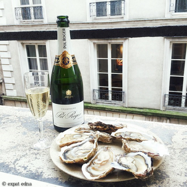 Chinese New Year champagne and oysters in Paris by Expat Edna