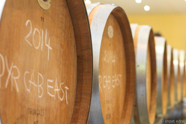 Dominique Portet barrels - Yarra Valley Wine Tour Melbourne by Expat Edna
