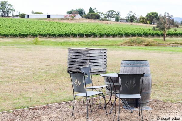 Dominique Portet outdoor seating - Yarra Valley Wine Tour Melbourne by Expat Edna