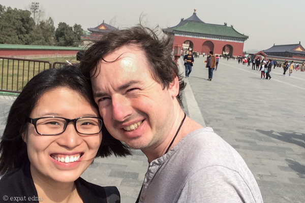 Edna and Joe in Beijing by Expat Edna