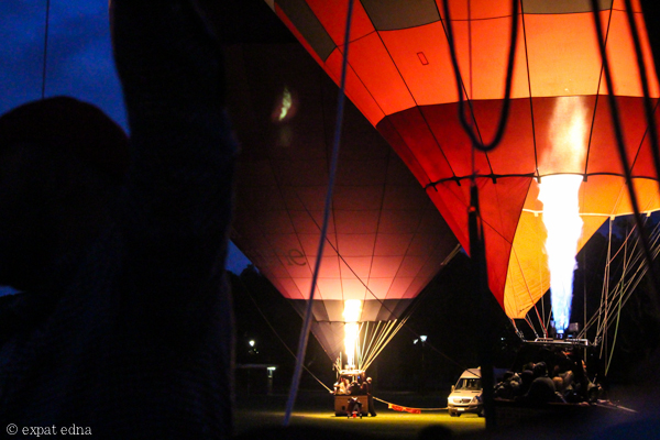 Firing up hot air balloons by Expat Edna