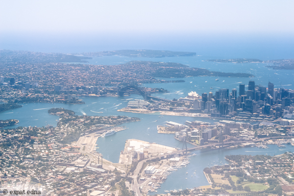 Flying over Sydney by Expat Edna