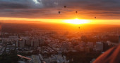 Floating over Melbourne by hot air balloon