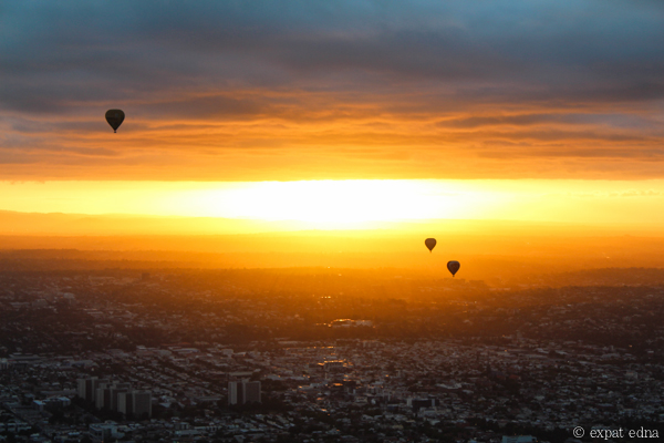 Melbourne sunrise by hot air balloon by Expat Edna-11