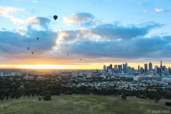 Melbourne sunrise by hot air balloon by Expat Edna-15