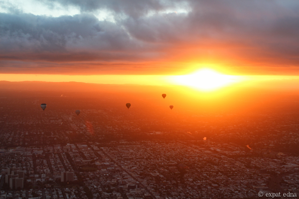 Melbourne sunrise by hot air balloon by Expat Edna-2