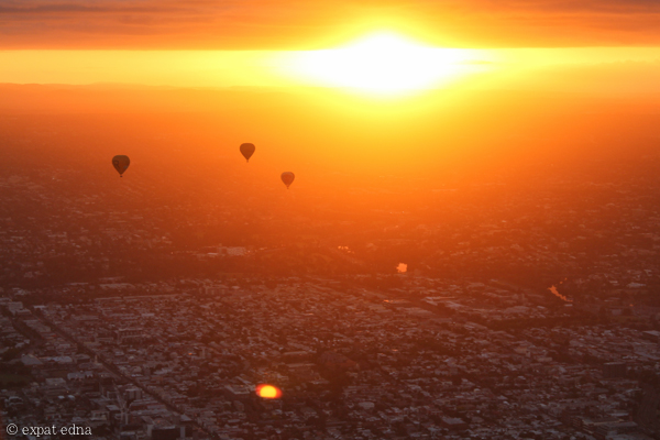 Melbourne sunrise by hot air balloon by Expat Edna-5