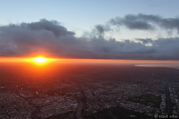 Melbourne sunrise by hot air balloon by Expat Edna