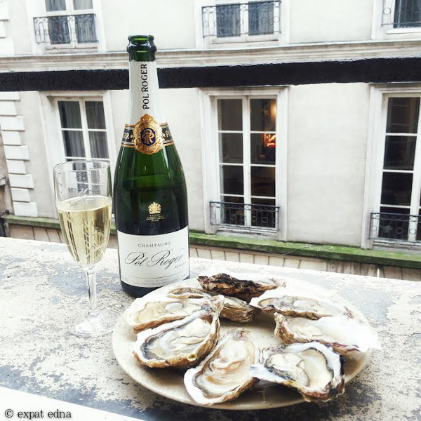 Oysters and Pol Roger Champagne, Paris by Expat Edna