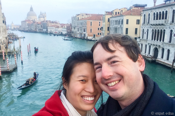 Venice on Valentine's Day by Expat Edna