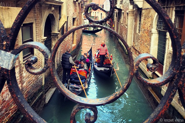 Venice through the bridge by Expat Edna