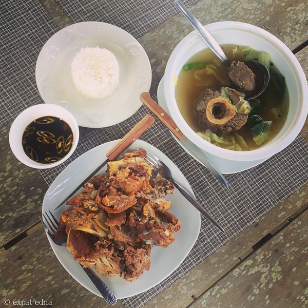 Crispy pata and bulalo, Tagaytay, Philippines by Expat Edna