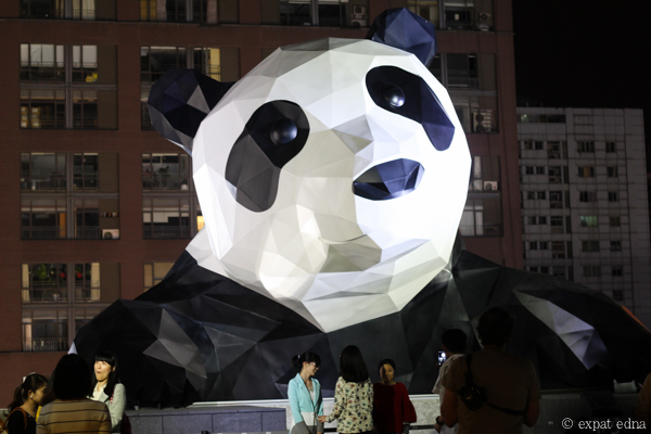Giant king kong Panda by Expat Edna