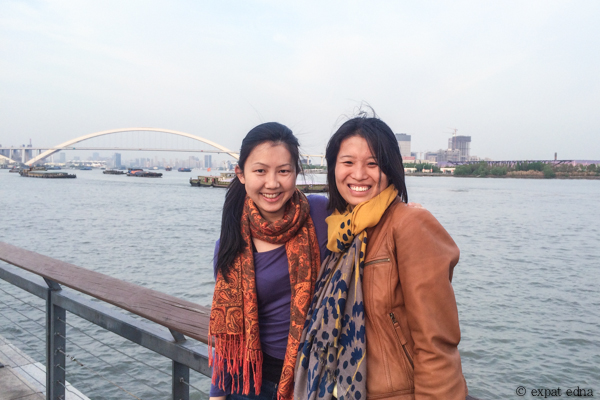 Helin and Edna at Xuhui Riverside, Shanghai by Expat Edna