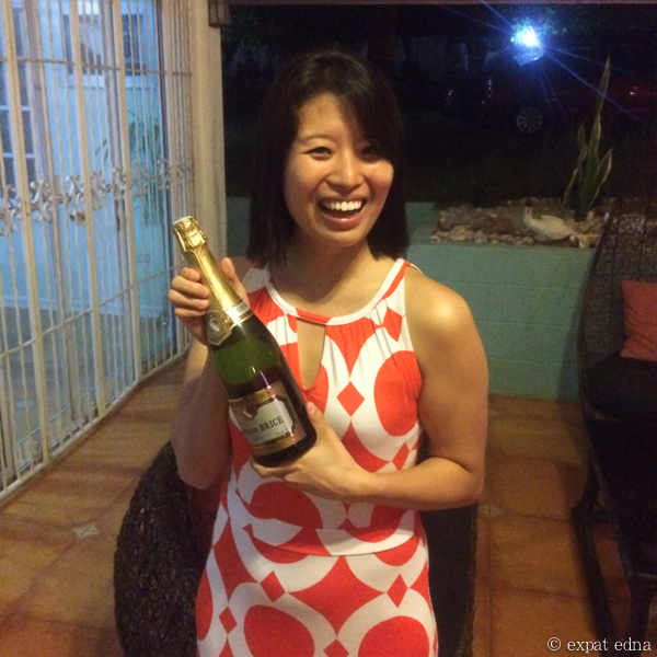 I won champagne! - Philippines wedding by Expat Edna