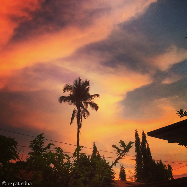 Sunset in Makati, Philippines by Expat Edna