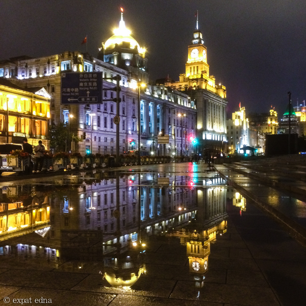 Bund at night, Shanghai by Expat Edna
