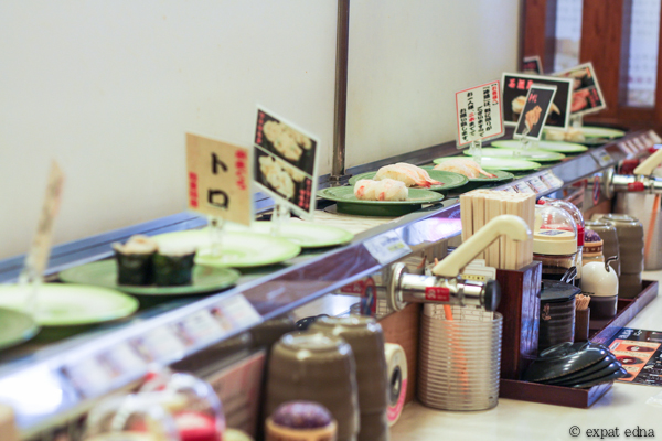Conveyor belt sushi, Osaka by Expat Edna
