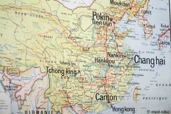 Map of old China, Beijing airbnb by Expat Edna