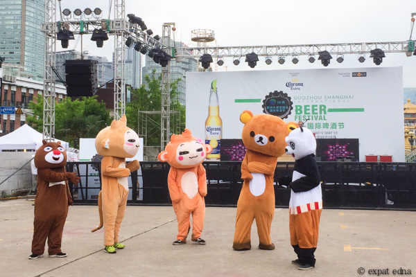 Mascots at Shanghai Brewfest, Shanghai by Expat Edna