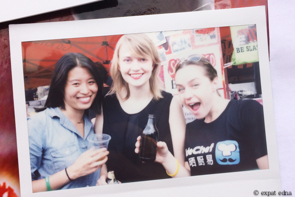 Shanghai BBQ cookoff polaroid by Expat Edna
