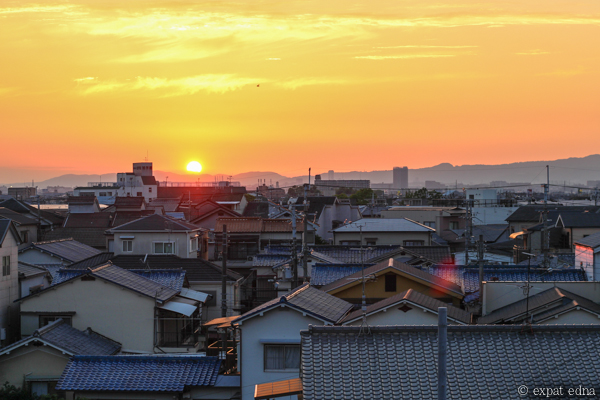 Sunset in Neyagawa by Expat Edna