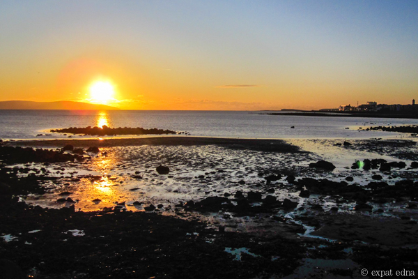 Sunset in Salthill, Ireland by Expat Edna