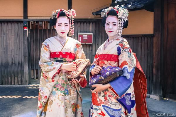 Two Geishas in Kyoto by Expat Edna