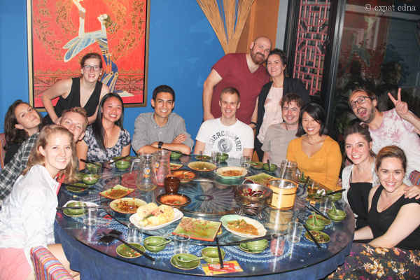 Leaving dinner at Lotus, Shanghai by Expat Edna