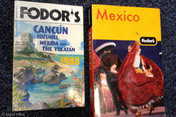 Vintage travel books by Expat Edna