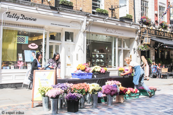 Seven Sisters pop up flower stand by Expat Edna