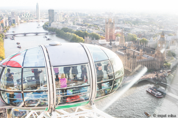 London from the Eye by Expat Edna