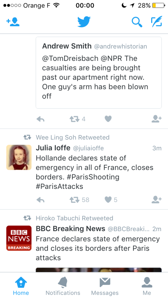 Paris Attacks twitter