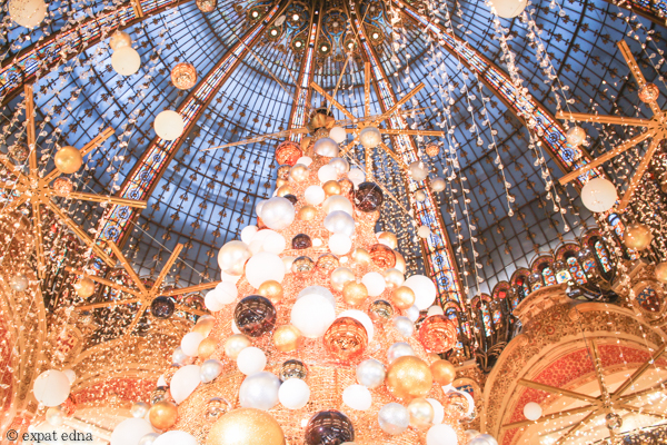 Galeries Lafayette Christmas, Paris by ExpatEdna.com