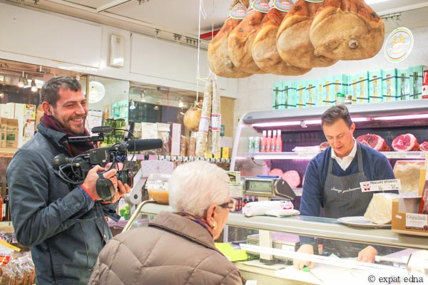 BBC Travel filming in Lorenzo Gastronomia by Expat Edna